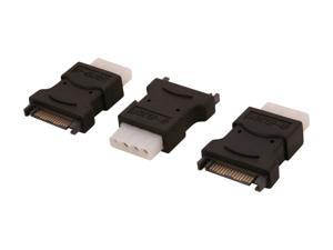 NORCO C-SATA-FM3 Adapter for Convert SATA Power Connector to 4 Pin Molex Power Connector - Lot 3