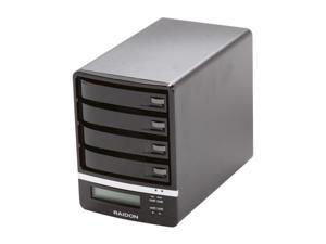 Raidon 4 Bay eSATA, USB 2.0, FireWire External Hard Drive Enclosure With Built-in SATA RAID 5 GR5630-4S-WBS2