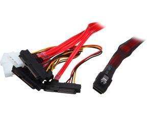 areca CB-8782P-75 SFF-8087 Inernal MiniSAS to SFF-8482 Internal SAS + Power (4-Pin) Cable