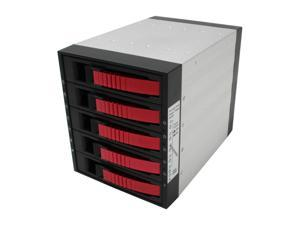 "iStarUSA BPU-350-Red 3x5.25"" to 5x3.5"" SATA2.0 Hot-Swap Backplane Raid Cage - OEM"