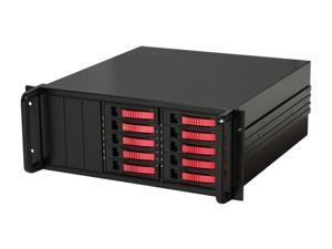 "iStarUSA DAGE410U20-PM-RED 10 3.5"" Drive Bays 2x eSATA-Port Multiplier 4U 10-bay SATA eSATA Port Multiplier JBOD Chassis 500W PSU"