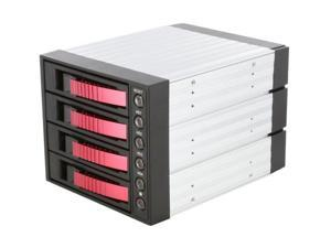 "iStarUSA BPU-340SATA-RED 3x5.25"" to 4x3.5"" SAS/SATA 6.0 Gb/s Hot-Swap Cage - OEM"