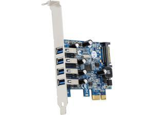 Mediasonic HP1-U34F PCI Express 4 Ports External USB 3.0 PCI Express Card