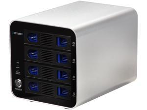 Cavalry CADA-SA4-S Series EN-CADA4SU3E-ZB USB 3.0 + eSATA RAID 4-Bay Disk Array (Silver)