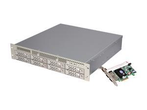 CineRAID EditPRO CR-R08X 8-Bay 2U Rackmount Chassis with PCIe 6G Card