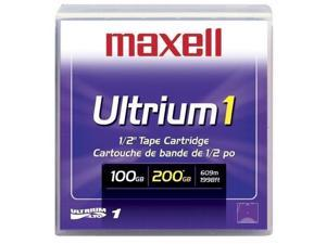 maxell 183800 100/200GB LTO Ultrium 1 Tape Media 1 Pack