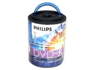PHILIPS 4.7GB 16X DVD-R Logo 100 Packs Spindle Disc with Handle Model DM4S6H00F/17