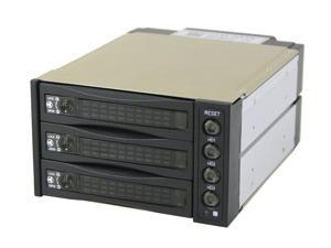 "Athena Power BP-SATA2131B Converts 2 x 5.25"" Bays to 3 x 3.5"" Bays SATA Hot Swap RAID Subsystem"