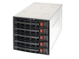"SUPERMICRO CSE-M35T-1B 3 x 5.25"" to 5 x 3.5"" Hot-swap SATA HDD Trays"
