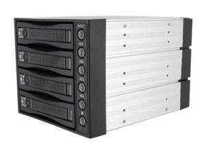 "iStarUSA BPU-340SATA-BPL 3x5.25"" to 4x3.5"" SAS/SATA 6.0 Gb/s Hot-Swap Cage - OEM"