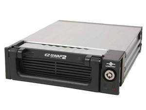 "Vantec EZ Swap 2 3.5"" Removable SATA Hard Drive Mobile Rack with Key and Fan - Model MRK-300ST-BK"