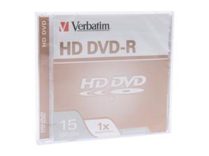 Verbatim 15GB 1X HD DVD-R Single Branded Disc Model 95359