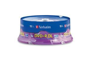 Verbatim 8.5GB 8X DVD+R DL 15 Packs Disc Model 95484 - OEM