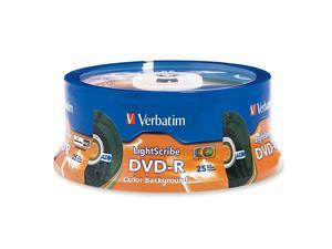 Verbatim 4.7GB 16X DVD-R LightScribe 25 Packs Disc Model 96433 - OEM