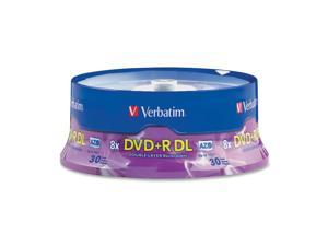 Verbatim 8.5GB 8X DVD+R DL 30 Packs Disc Model 96542 - OEM