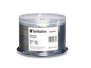 Verbatim 8.5GB 2.4X DVD+R DL 50 Packs DataLifePlus Shiny Silver Disc Model 96732 - OEM