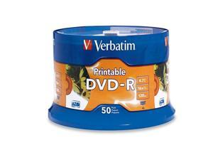 Verbatim DVD-R 4.7GB 16X Branded White Inkjet 50pk Spindle