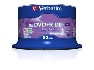 Verbatim 8.5GB 8X DVD+R DL 50 Packs Disc Model 97000 - OEM