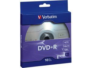 Verbatim DVD+R 4.7GB 16X 10pk Bulk Box
