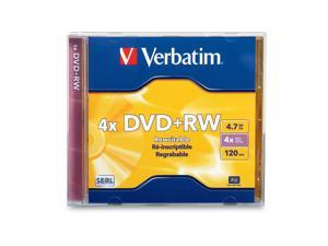 Verbatim DVD+RW 4.7GB 4X Branded 1pk Jewel Case