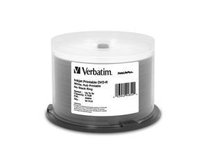 Verbatim 4.7GB 8X DVD-R White Inkjet Printable, Hub Printable 50 Packs DataLifePlus Disc Model 94854