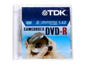 TDK 1.4GB 2X DVD-R Single 8cm Disc for Data General Use (non-authoring) Model 48569