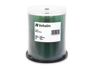 Verbatim CD-R 700MB 52X Shiny Silver Silk Screen Printable - 100pk Spindle