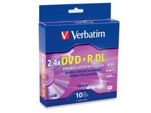 Verbatim 8.5GB 2.4X DVD+R DL 10 Packs Disc Model 95166