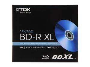 TDK 100GB 4X BD-XL Inkjet Printable Single Disc Model 61928
