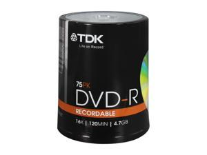 TDK 4.7GB 16X DVD-R  75 Packs Media Model 61932