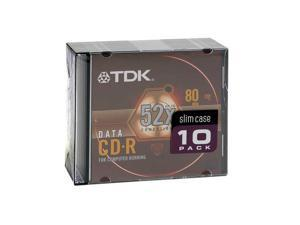TDK 700MB 52X CD-R 10 Packs Disc Model 47818