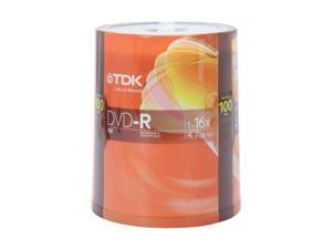 TDK 4.7GB 16X DVD-R 100 Packs Disc Model DVD-R47FCB100