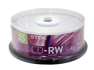 TDK 700MB 4X CD-RW 25 Packs Disc Model 47981
