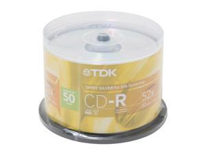 TDK 700MB 52X CD-R 50 Packs Disc Model CD-R80BCB50