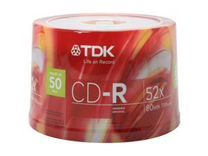 TDK 700MB 52X CD-R 50 Packs Disc Model 47896
