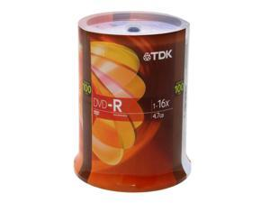 TDK 4.7GB 16X DVD-R 100 Packs Disc Model DVD-R47FCB100OLD