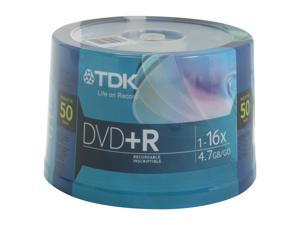 TDK 4.7GB 16X DVD+R 50 Packs Disc Model 48519