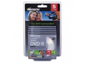 memorex 1.4GB 4X DVD-R  5 Packs Mini Disc Model 05629