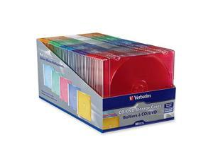 Verbatim 94178 CD/ DVD Color Slim Cases 50pk
