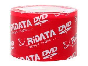 RiDATA 4.7GB 16X DVD-R White Hub Inkjet Printable 50 Packs Disc Model DRD-4716-RDIW50N