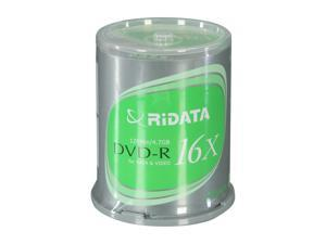 RiDATA 4.7GB 16X DVD-R 100 Packs Disc Model DRD-4716-RDCB100B
