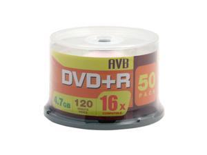 AVB 4.7GB 16X DVD+R 50 Packs Disc Model DVD+R50-16X