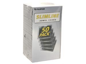 FUJIFILM 25367050 50-Pack Slimline Jewel Cases