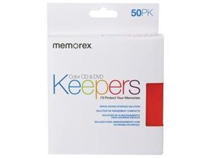 Memorex 01972 CD/DVD Keepers Assorted Colors, 50 Pack