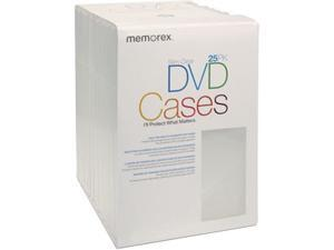 Memorex 01985 25PK DVD Video Movie Cases