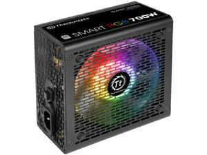 Thermaltake Smart RGB Series 700W SLI/CrossFire Ready Continuous Power ATX 12V V2.3 80 PLUS Certified 5 Year Warranty Active PFC Power Supply Haswell Ready PS-SPR-0700NHFAWU-1