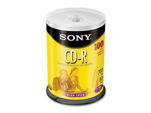 SONY 700MB 48X CD-R 100 Packs Disc Model 100CDQ80RS