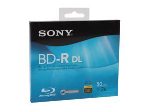 SONY 50GB 2X BD-R DL Single Disc Model BNR-50RH