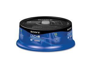 SONY 4.7GB 16X DVD+R 25 Packs Disc Model 25DPR47RS4