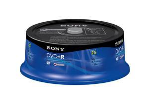 SONY 4.7GB 4X DVD+RW 25 Packs Media Model 25DPW47RS2
